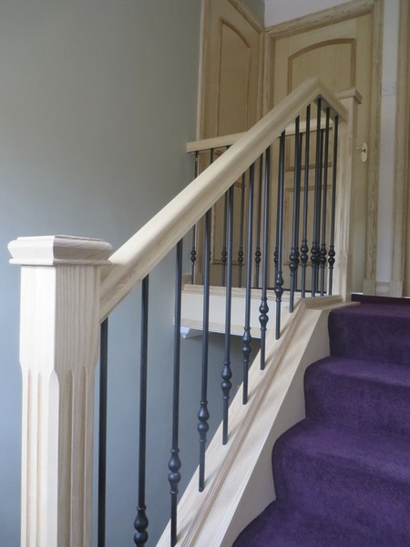 Glass And Oak Stair Bannister